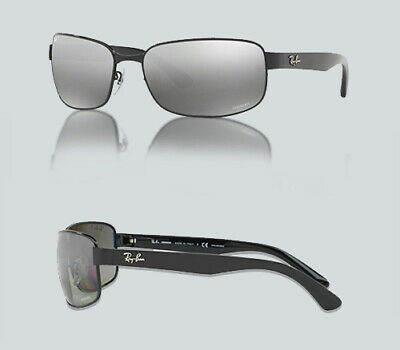 a1bb1d6d06 RAY BAN RB 3566-CH Sunglasses 002 5J Shiny Black   Gray Mirrored ...
