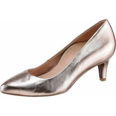 Gold Sole Pumps Schuhe Gr40 Heartamp; Tamaris Damen Rose