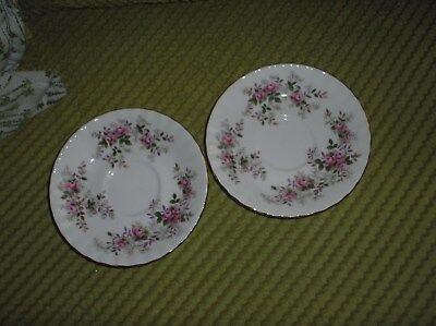 2 Royal Albert  'Lavender Rose' 5.5ins Tea Saucers
