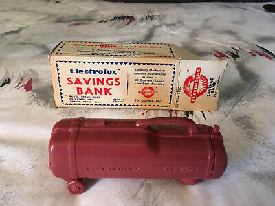 Vintage Electrolux 25 Cent Savings Bank With Box # 306668
