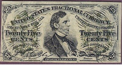 Fessenden Contemperaneous 3rd issue 25¢ Fractional CFT1295 - Very Nice AU