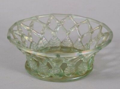 Rare Antique Liege a Traforato Glass Bowl Sotheby's Belgravia Provenance