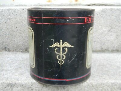 1920's I-X BARIUM MEAL TIN CONTAINER - MEDICAL X-RAY