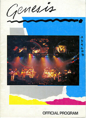 "1981 Genesis ""Abacab"" Official Tour Program Rock n Roll Phil Collins Tony Banks"
