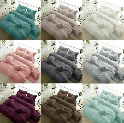 Fleece TEDDY BEAR Duvet Quilt Cover Warm & Cozy OR Fitted Sheet + Pillow Cases