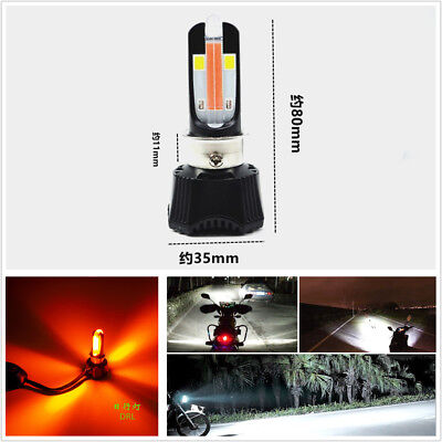 DC 9-18V 4000LM 40W Motorcycle Hi/Lo Beam LED Headlight Bulb Fit H4 P15D H6 HS1