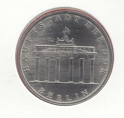 DDR 5 Mark Berlin  Hauptstadt 1987 Brandenburger Tor  (M3839)