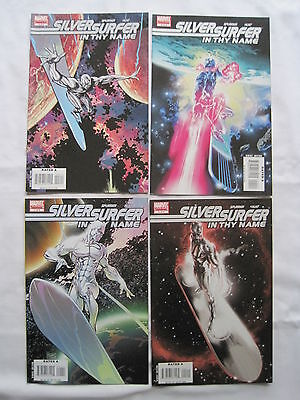 """SILVER SURFER, """"IN THY NAME"""" : COMPLETE 4 ISSUE SERIES by SPURRIER & HUAT. 2008"""