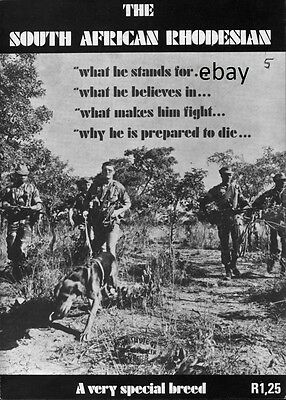 New A4 Print Of Old Poster South African Rhodesian Special Breed Army Rhodesia
