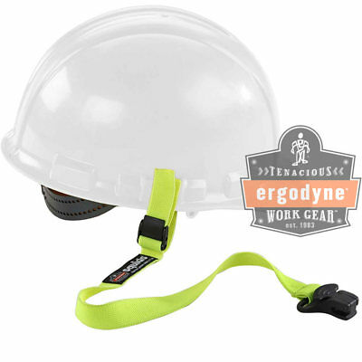 Ergodyne Squids Elastic Hard Hat Safety Lanyard-Clamp Buckle Lime
