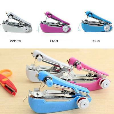 Portable Mini Sewing Machine Handheld Stitch Clothes Home Cordless Household New