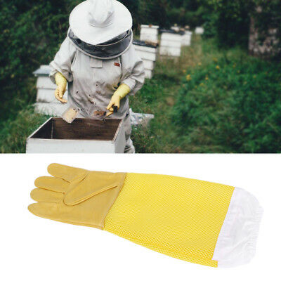 Anti Bee Beekeeper Protective Gloves Faux Goatskin Gloves Beekeeping Equipment