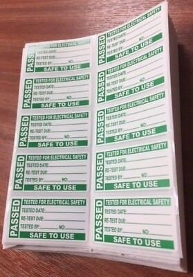 500x PAT Test Labels (Portable Appliance Stickers) *limited stock