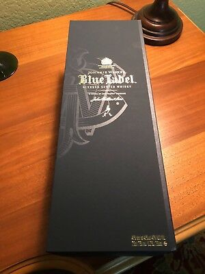 JOHNNIE WALKER Scotch Whisky BLUE LABEL 750ML Magnetic Decorative BOX NICE