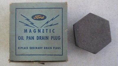 Vintage Ford Magnetic Oil Pan Drain Plug For 1939-1947 V8 Models 357994-S W/ Box