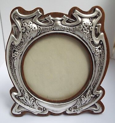 Beautiful Rare Clean Antique Art Nouveau 1904 Solid Sterling Silver Photo Frame