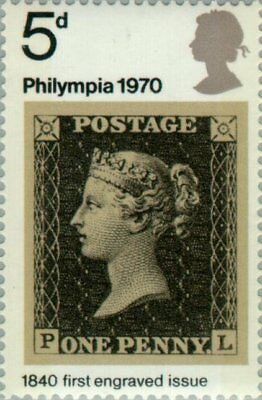 GREAT BRITAIN -1970- Philympia 70 - Stamp Exhibition - 1840 First Engraved  #642