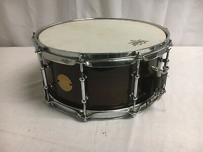"""Black Swamp Concert Snare Drum Maple Shell Walnut Lacquer Finish 6.5"""" X 14"""""""
