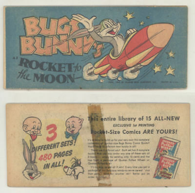 Rare 1949 Quaker Cereal giveaway comic book BUGS BUNNY ROCKET TO THE MOON