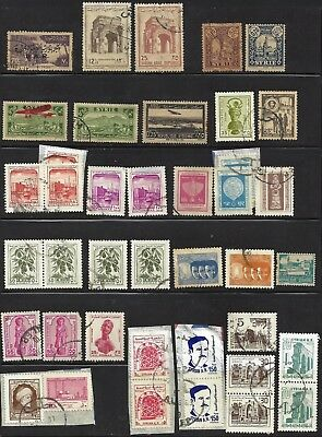SYRIA Lot of 40 mixed Syrian stamps mostly used