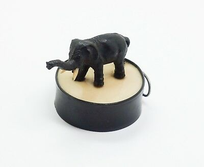Vintage Early 20c Figural Elephant Celluloid Miniature Sewing Tape Measure