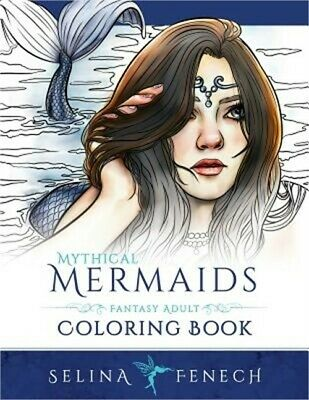 Mythical Mermaids - Fantasy Adult Coloring Book (Paperback or Softback)