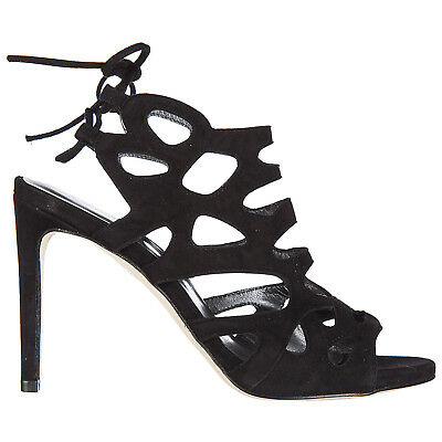 4e16514928 STUART WEITZMAN WOMEN'S Suede Heel Sandals New Black 559 - $424.00 ...