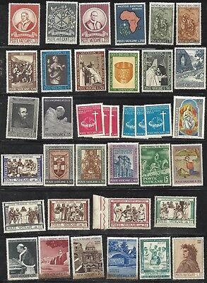 Selection of 1960's VATICAN MNH