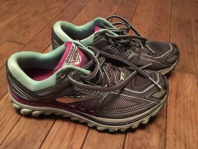 dd981ef9849fa Womens Brooks Glycerin 13 G13 Running Shoes Size 7 Gray Turquoise Green  Purple