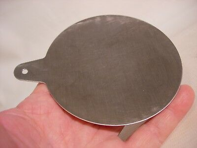 Stainless steel plate from a TORBAL Electronic Balance Scale Model EA-1
