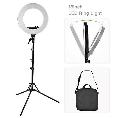 """Mecor 18"""" LED Photography Ring Light Dimmable 5500K Lighting Photo Video Stand"""