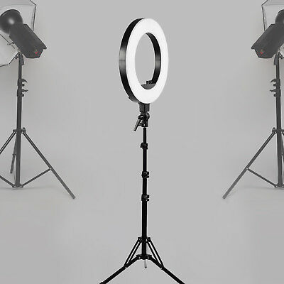 """KUPPET LED Photography Ring Light Dimmable 5500K Lighting Photo Video Stand 18"""""""