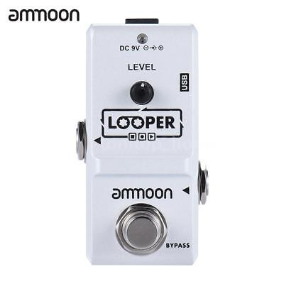 ammoon Nano Loop Electric Guitar Effect Pedal Looper 10 Min Record G5N9