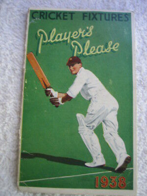 Cricket Fixtures 1938 book let The Ashes Australia v England in UK incl Bradman