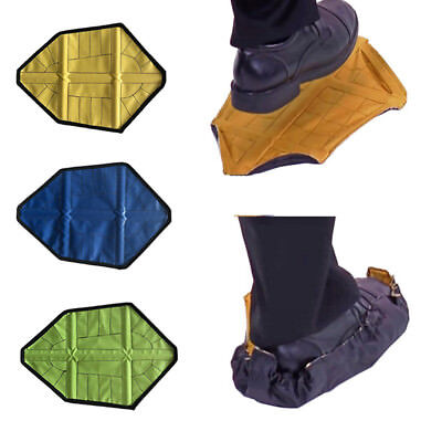 2PCS Novelty Step in Sock Reusable One Step Hand Free Automatic Shoe Covers