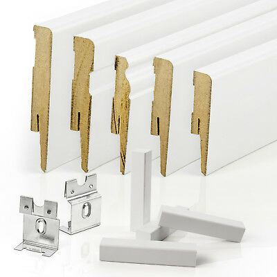 PREMIUM 100mm MDF SKIRTING BOARDS edging scotia floor wall cover white paintable