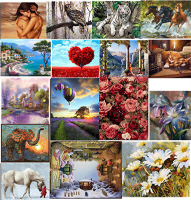 DIY Scenery Paint By Number Kit Acrylic Oil Painting Linen Cloth Art Home Decor