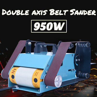950W Double Axis Electric Sander Sanding Belt Variable Speed Grinding Machine
