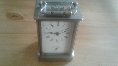 Chrome Chiming Carriage Clock (Not Working).