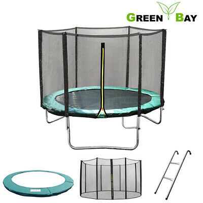 6 8 10 12 14 FT Trampoline Safety Net Enclosure Spring Cover Padding Ladder