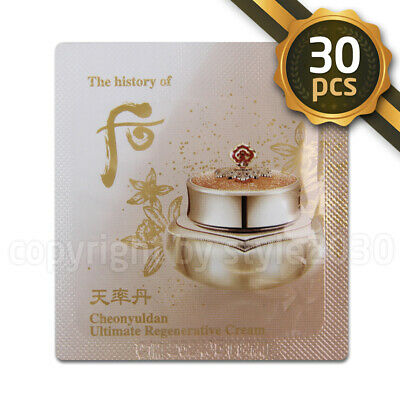 [The history of Whoo] Cheonyuldan Ultimate Regenerating Cream 1ml x 30pcs (30ml)