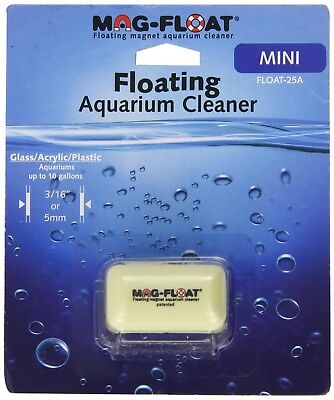 Mag-Float 25 Mini Glass Acrylic Plastic Aquarium Magnetic Algae Cleaner Magfloat