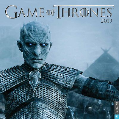 Game Of Thrones TV Series 12 Month 2019 Wall Calendar NEW SEALED