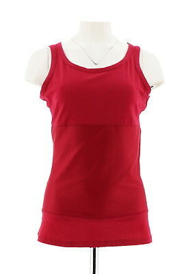 4bb952acb6980 Jockey Shapewear Womens 3-Panel High Back Scoop Neck Tank Top Red L NEW  A228128