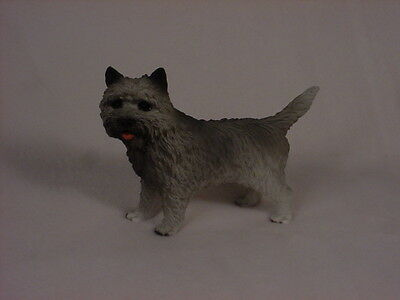 CAIRN TERRIER dog HAND PAINTED FIGURINE gray puppy COLLECTIBLE resin Statue NEW