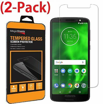 [2-PACK] Motorola Moto G6 Tempered Glass Screen Protector Guard Cover Saver
