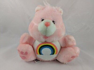 "Care Bears Cheer Bear Coin Bank Plush 7.5"" American Greetings 1984"