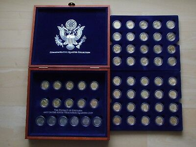 USA Quater Columbia / Territories Dollar Collection 56x 1/4 $ America gilt coins