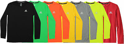 Adidas Youth Essential Climalite Long Sleeve Tee Shirt, Color Options
