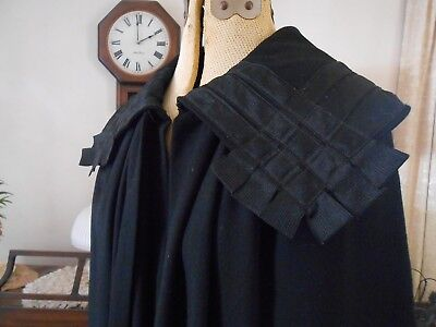 Vintage Antique Turn of the Century 1900's fine wool CAPE BEAUTIFUL B 44""